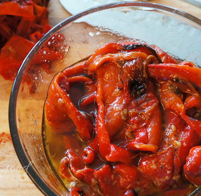 Roasted & Marinated Red Peppers