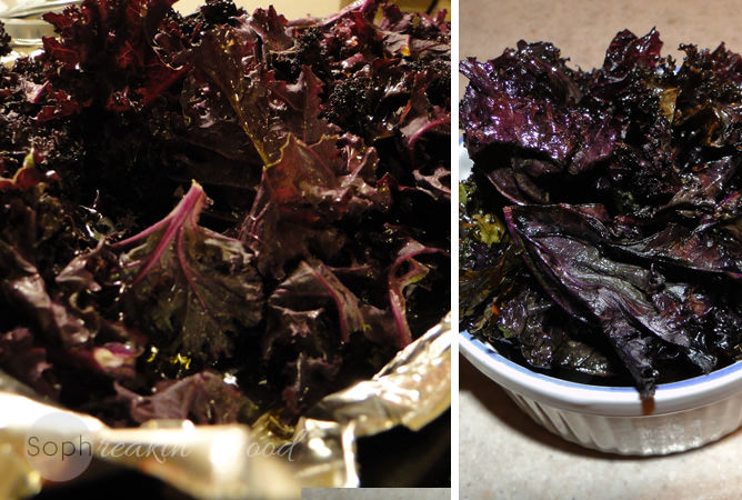 Purple Kale Chips