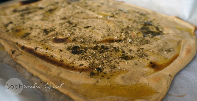 Paleo Plantain Flat Bread with Za'atar