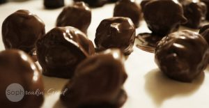 plums in dark chocolate