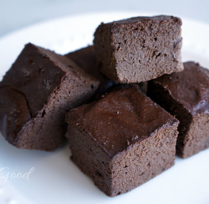 Paleo Dark Chocolate Banana Fudge Brownies